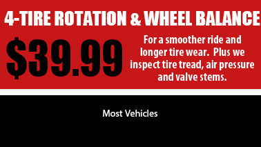 4 Tire Rotation Special, Auto Services in Sun City West, AZ