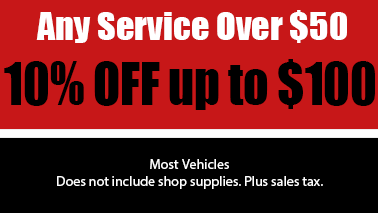Any Service Over $50 10% Off up to $100